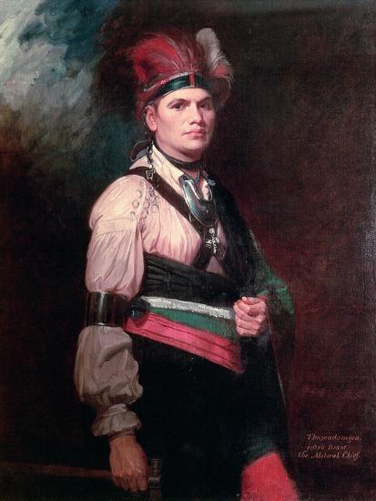 Joseph Brant, Chief of the Mohawks, 1742-1807-George Romney-Giclee Print