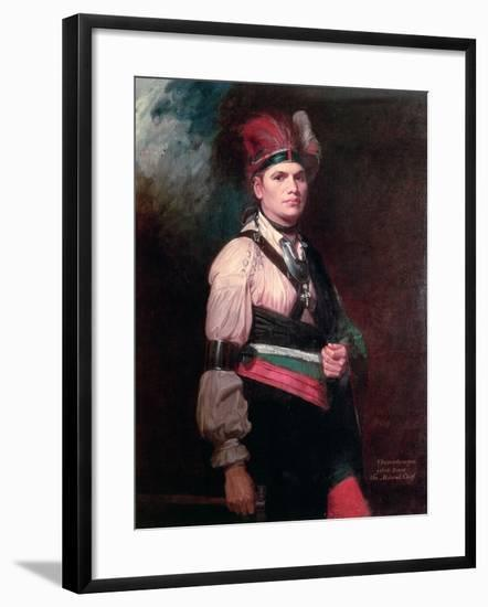 Joseph Brant, Chief of the Mohawks, 1742-1807-George Romney-Framed Giclee Print