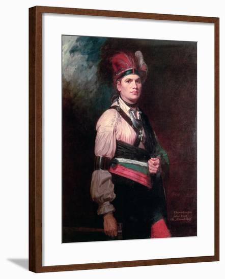 Joseph Brant, Chief of the Mohawks, 1742-1807-George Romney-Framed Giclee Print
