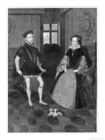 Mary Tudor Catholic Queen of England with Her Husband Philip II of Spain