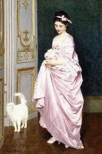 Feline Affection, 1872 by Joseph Caraud