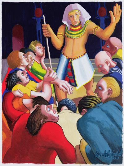 Joseph Cares for His Brothers, 2003-Dinah Roe Kendall-Giclee Print