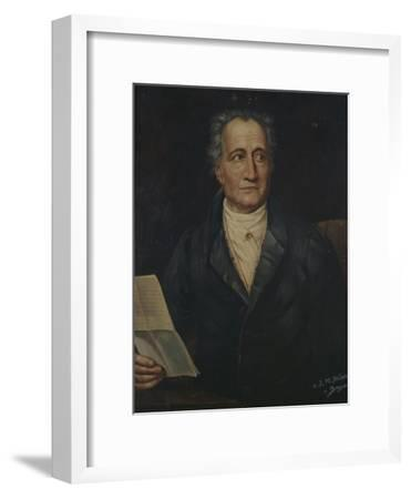 Portrait of German Writer Johann Wolfgang Von Goethe, Painted by Bayer, Late 19th Century