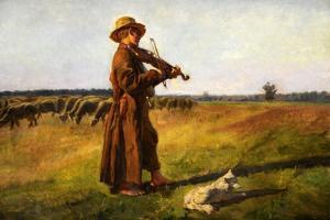 Jozef Marian Chelmonski (1849-1914), Herdsman, 1897 by Joseph Chelmonski