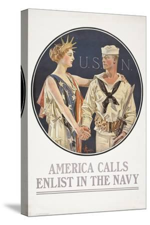 """""""America Calls, Enlist in the Navy"""" Poster, 1917"""