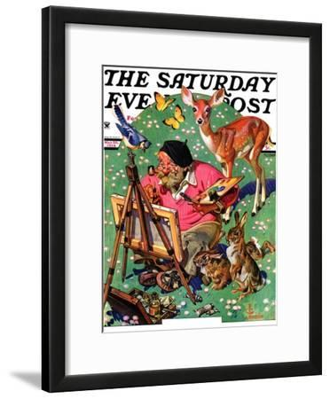 """""""Artist and Animals,"""" Saturday Evening Post Cover, May 26, 1934"""