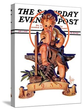 """""""Baby New Year at Forge,"""" Saturday Evening Post Cover, January 1, 1938"""