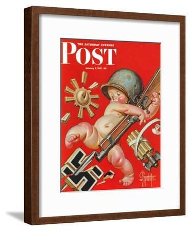 """Baby New Year at War,"" Saturday Evening Post Cover, January 2, 1943"