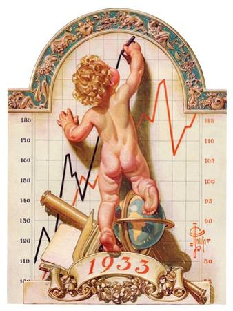 """Baby New Year Charting 1933,""December 31, 1932"