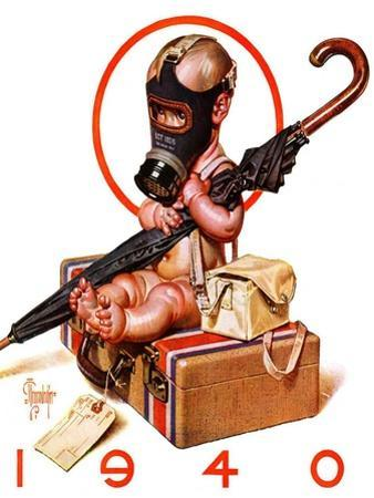 """""""Baby New Year Ready for War,""""December 30, 1939"""