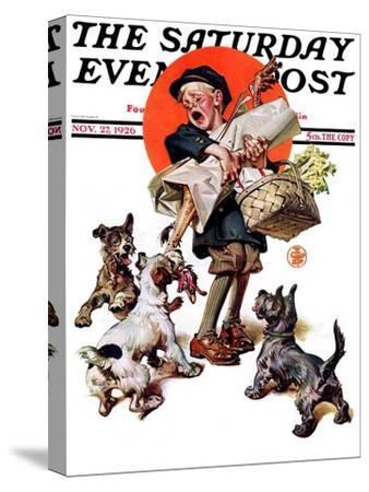 """Barking Up the Wrong Turkey,"" Saturday Evening Post Cover, November 27, 1926"