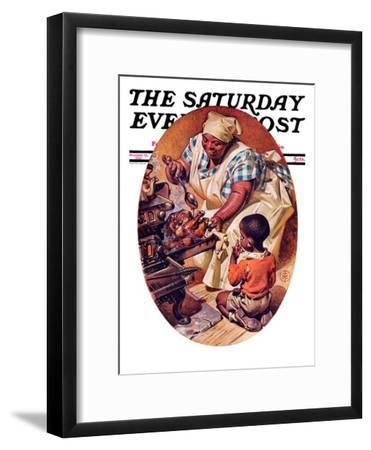 """Basting the Turkey,"" Saturday Evening Post Cover, November 28, 1936"