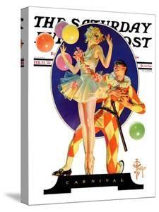 """Carnival,"" Saturday Evening Post Cover, February 25, 1933 by Joseph Christian Leyendecker"