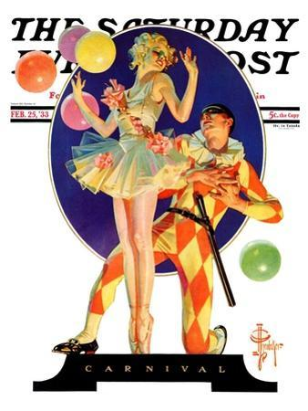 """Carnival,"" Saturday Evening Post Cover, February 25, 1933"