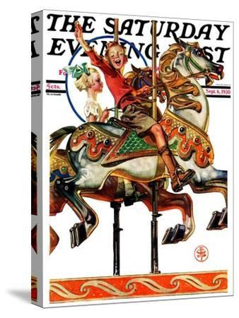 """""""Carousel Ride,"""" Saturday Evening Post Cover, September 6, 1930"""