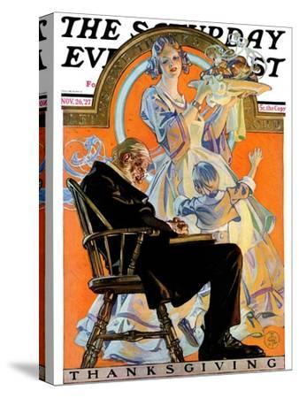 """""""Childhood Thanksgiving,"""" Saturday Evening Post Cover, November 26, 1927"""