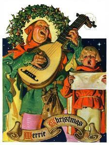 """Christmas Minstrels,""December 21, 1929 by Joseph Christian Leyendecker"