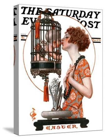 """""""Easter, 1923,"""" Saturday Evening Post Cover, March 31, 1923"""