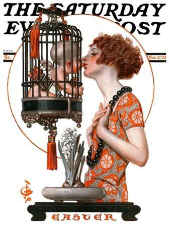 """Easter, 1923,"" Saturday Evening Post Cover, March 31, 1923"