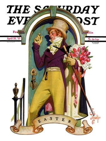 """""""Easter Bouquet,"""" Saturday Evening Post Cover, April 20, 1935"""