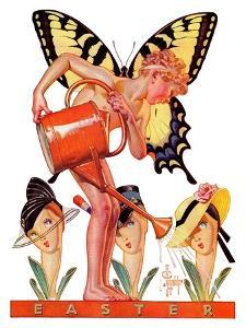 """Easter Fairy,""March 27, 1937 by Joseph Christian Leyendecker"