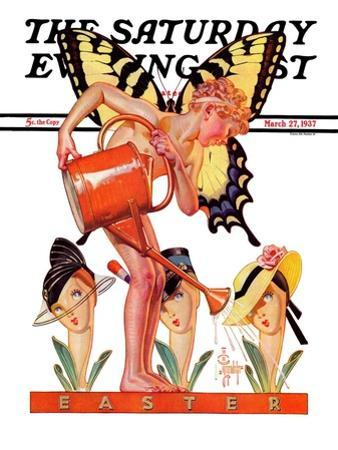 """Easter Fairy,"" Saturday Evening Post Cover, March 27, 1937"