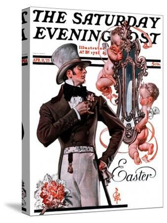 """""""Easter Finery,"""" Saturday Evening Post Cover, April 11, 1925"""