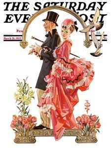 """""""Easter Promenade,"""" Saturday Evening Post Cover, March 26, 1932 by Joseph Christian Leyendecker"""