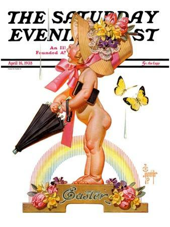 """Easter Rainbow,"" Saturday Evening Post Cover, April 16, 1938"
