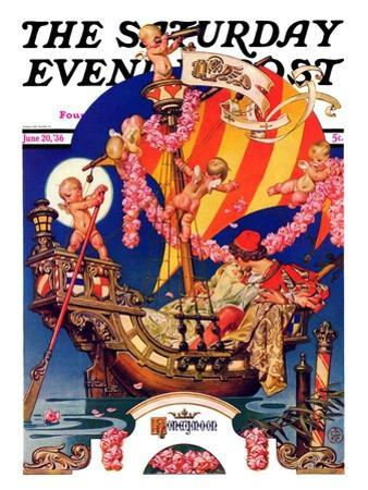 """Fantasy Honeymoon,"" Saturday Evening Post Cover, June 20, 1936"