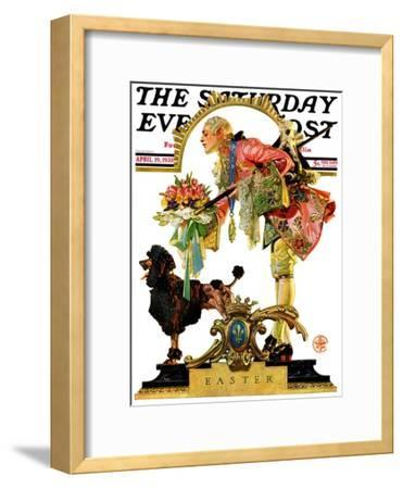 """Fop, Dog, and Flowers,"" Saturday Evening Post Cover, April 19, 1930"