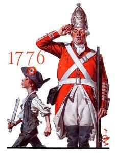 """Fourth of July, 1776,""June 30, 1923 by Joseph Christian Leyendecker"