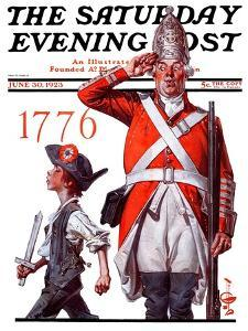 """""""Fourth of July, 1776,"""" Saturday Evening Post Cover, June 30, 1923 by Joseph Christian Leyendecker"""