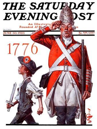 """""""Fourth of July, 1776,"""" Saturday Evening Post Cover, June 30, 1923"""