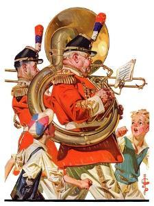 """Fourth of July Parade,""July 1, 1933 by Joseph Christian Leyendecker"