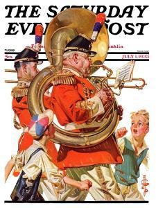 """Fourth of July Parade,"" Saturday Evening Post Cover, July 1, 1933 by Joseph Christian Leyendecker"