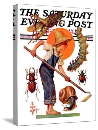 """Garden Pests,"" Saturday Evening Post Cover, June 4, 1932"