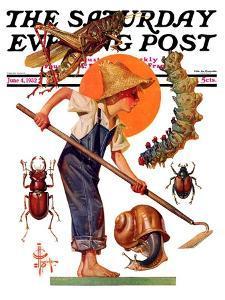 """Garden Pests,"" Saturday Evening Post Cover, June 4, 1932 by Joseph Christian Leyendecker"