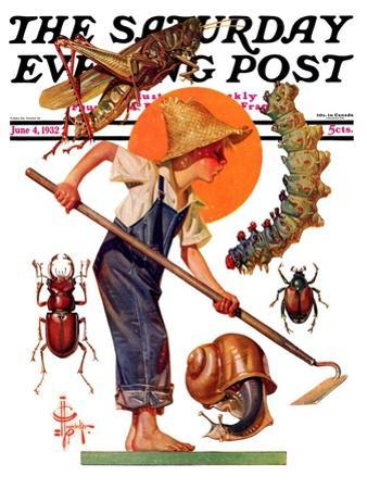 """Garden Pests,"" Saturday Evening Post Cover, June 4, 1932"