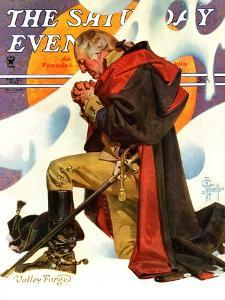 """""""George Washington at Valley Forge,"""" Saturday Evening Post Cover, February 23, 1935 by Joseph Christian Leyendecker"""