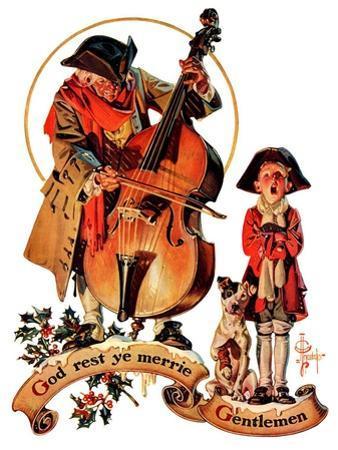 """""""God Rest Ye Merrie Gentlemen,""""December 24, 1932 by Joseph Christian Leyendecker"""