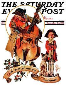 """""""God Rest Ye Merrie Gentlemen,"""" Saturday Evening Post Cover, December 24, 1932 by Joseph Christian Leyendecker"""