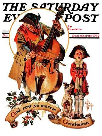 """God Rest Ye Merrie Gentlemen,"" Saturday Evening Post Cover, December 24, 1932"