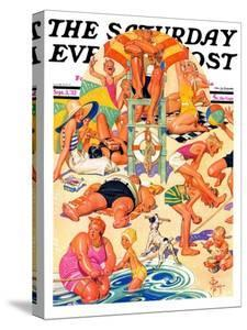 """""""King of the Beach,"""" Saturday Evening Post Cover, September 3, 1932 by Joseph Christian Leyendecker"""