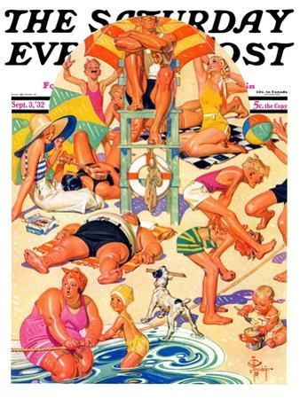 """King of the Beach,"" Saturday Evening Post Cover, September 3, 1932"