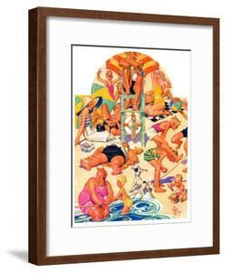 """""""King of the Beach,""""September 3, 1932 by Joseph Christian Leyendecker"""