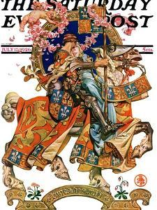 """""""Knight in Shining Armor,"""" Saturday Evening Post Cover, July 17, 1926 by Joseph Christian Leyendecker"""