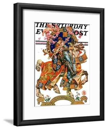 """""""Knight in Shining Armor,"""" Saturday Evening Post Cover, July 17, 1926"""
