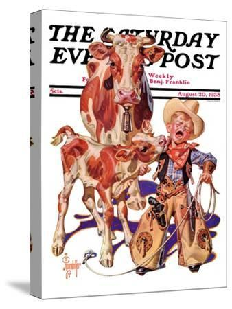 """Little Cowboy Takes a Licking,"" Saturday Evening Post Cover, August 20, 1938"