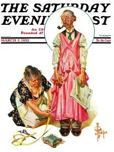 """""""Living Mannequin,"""" Saturday Evening Post Cover, March 5, 1932 by Joseph Christian Leyendecker"""